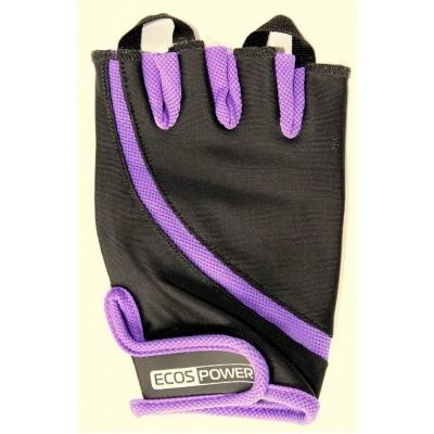 Перчатки для фитнеса женские Ecos 2311-VM/VL/VXL, фиолетовый/черный/белый