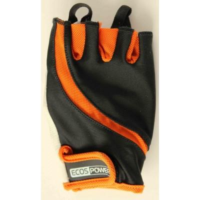 Перчатки для фитнеса женские Ecos 2311-OM/OL, оранж/черный/белый