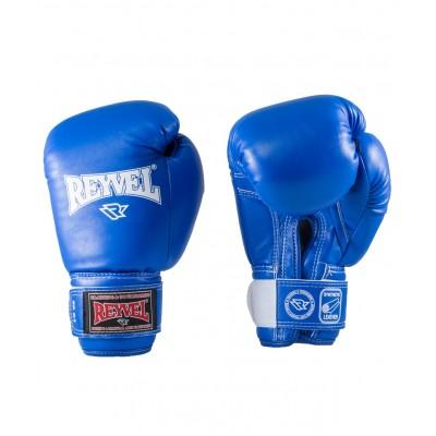 Перчатки боксерские Reyvel RV-101, 6-8-10-12-14 oz, к/з, синий
