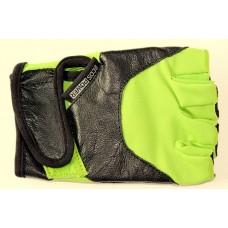 Перчатки для фитнеса женские Ecos 5102-GM/GL/GXL, черный/зеленый
