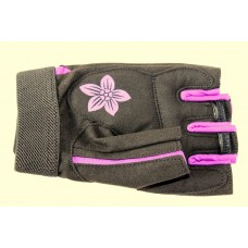 Перчатки для фитнеса женские Ecos 5106-VM/VL, черный/фиолетовый