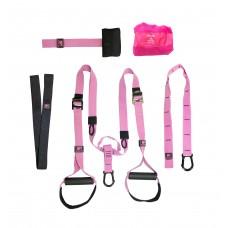 Набор петель для функционального тренинга профессиональный PINK UNICORN 200 кг (TRX)