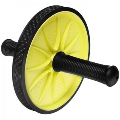 Ролик для пресса одинарный ES-0808, желтый