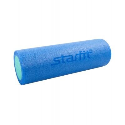 Ролик для йоги и пилатеса STARFIT FA-501 15*45см, синий/голубой