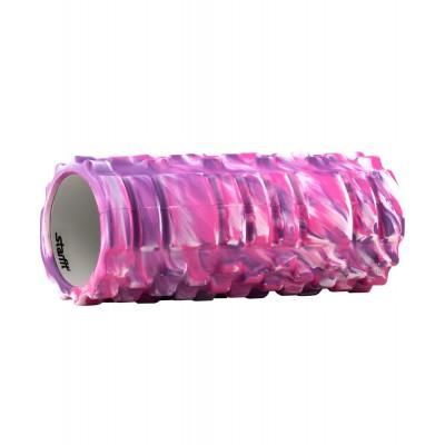 Ролик массажный STARFIT FA-503 140*330мм, фиолетовый камуфляж