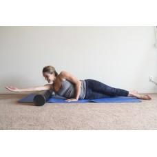 Цилиндр для йоги 90 см EPE розовый