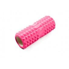 Ролик массажный JIF-01, 33х14 см, розовый