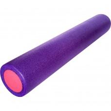 Ролик для йоги и пилатеса KN90 фиолетовый-розовый 90х15 см