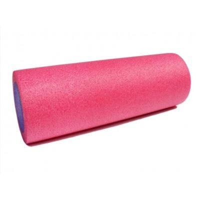 Ролик для йоги и пилатеса KN45 розовый-фиолетовый 45х15 см