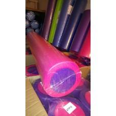 Ролик для йоги и пилатеса KN90 розовый-фиолетовый 90х15 см