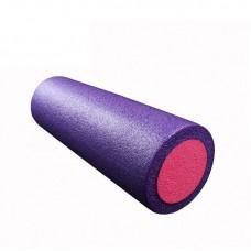Ролик для йоги и пилатеса KN45 фиолетовый-розовый 45х15 см