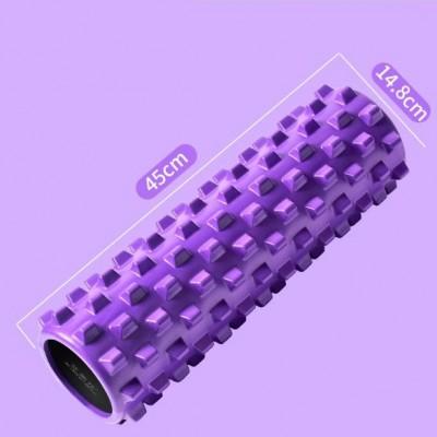 Массажный ролик Aimeishi KN45 фиолетовый 45х15 см