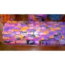 Ролик массажный 33х15 см KN1043 фиолетовый