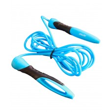 Скакалка STARFIT RP-104 ПВХ с эргономичной ручкой, синий/черный, 3,05 м