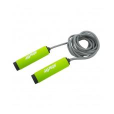 Скакалка STARFIT RP-105 со вспененной ручкой, зеленый/черный