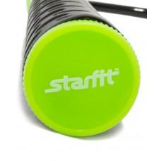 Скакалка STARFIT RP-103 ПВХ с нескользящей ручкой, черный/зеленый, 3,05м